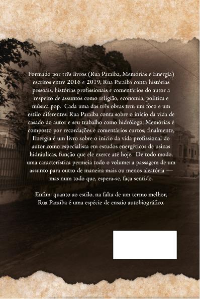 "Contracapa de ""Rua Paraíba"", meu próximo livro"